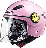 LS2 - Casco para moto Funny rosa, YS