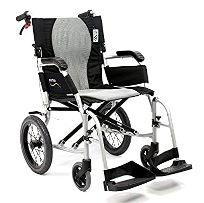 Karman Healthcare S-2512 Ergo Flight Transport Ultra Lightweight Wheelchair Luxury Seat, 18""