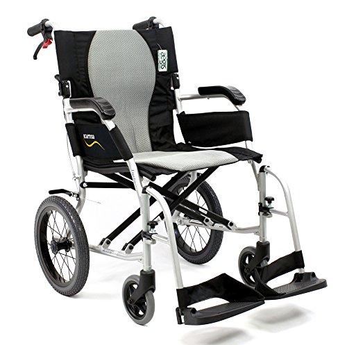 Karman Healthcare S-2512 Ergo Flight Transport Ultra Lightweight Wheelchair Luxury Seat, 16