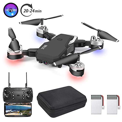 3T6B Folding Drone, 1080P HD 5 Megapixel Camera, Remote Control FPV WiFi Airplane, Quadcopter with 3 Speed ​​Modes, Headless Mode, Gesture Photo, One Button Return