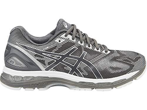 ASICS Men's Gel-Nimbus 19 Running Shoe, Carbon/White/Silver, 6 M US