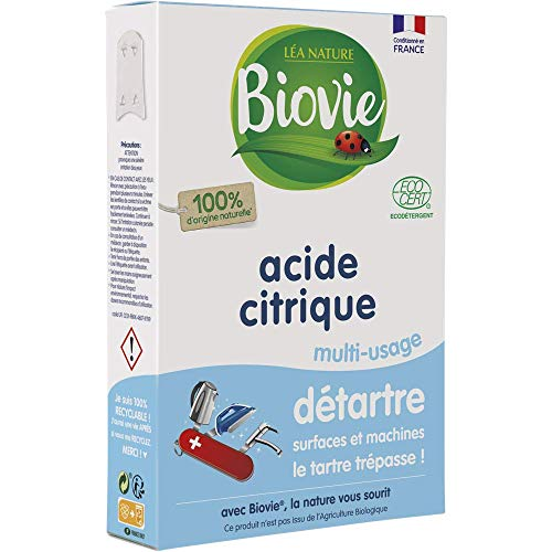 Biovie Super Détartrant Naturel Acide Citrique 350 g - Lot de 2