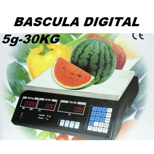 BASCULA DIGITAL COMERCIAL. BALANZA PESA DIGITAL ELECTRONICA PARA COMERCIO. 30KG. -