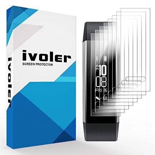 ivoler [8 Unidades] Protector de Pantalla para Huawei Band 2 Pro, [Cobertura Completa] [líquida Instalar] [Sin Burbujas] HD Transparente TPU Suave láminas Protectora