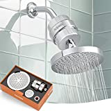 ADOVEL High Output Shower Head and Hard Water Filter, 15 Stage Shower Filter Removes Chlorine &...