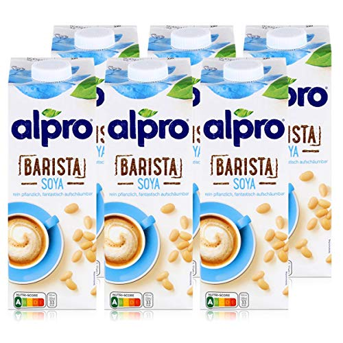 Alpro Barista Soya 1L - rein pflanzlich - fantastisch aufschäumbar (6er Pack)