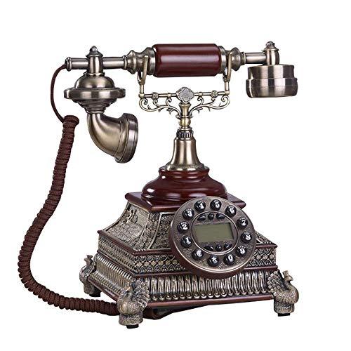 WBDZ Teléfonos con Cable, teléfono, teléfono Fijo, Llamadas Manos Libres para Mostrar la Pantalla de Electricidad, Oficina en casa