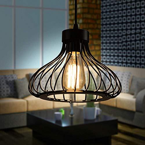 Vintage Retro Iluminación Colgante de Jaula - Industrial Metal Pantallas de Iluminación 60W Colgante de Luz, E27 Moderna Lámpara de Techo para Loft Restaurante Coffee