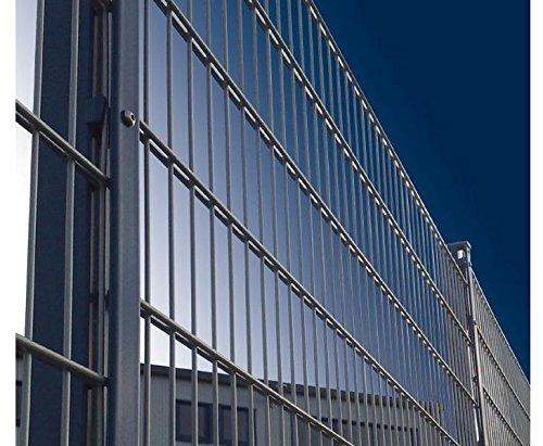 Gitterdrahtzaun für Sichtschutzmatten fvz./anthr. 140x250cm, Modell 8/6/8 Masche 50/200