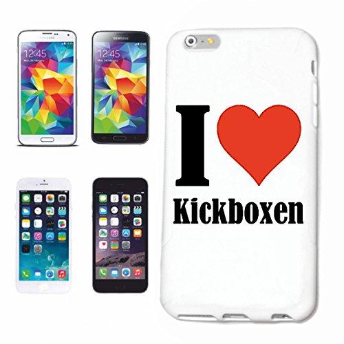 Helene Handyhülle kompatibel für Samsung Galaxy S8+ Plus I Love Kickboxen Hardcase Schutzhülle Handycover Smart Cover