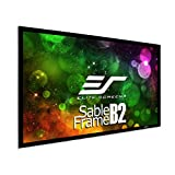 Elite Screens Sable Frame B2 135-INCH Projector Screen Diagonal 16:9 Diag Active 3D 4K 8K Ultra HD Ready Fixed Frame Home Theater Movie Theatre Black Projection Screen with Kit, SB135WH2