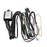 CLEIO DRL LED Duración de la luz del retransmisión de la luz de la luz Automático en el interruptor de control de OFF 12V luces de advertencia