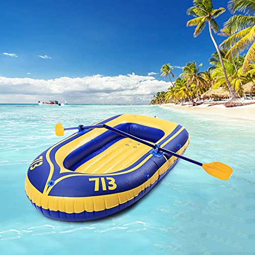 Huaa Inflatable Kayak Boats for Adults and Kids with Foot Pump and Two Oar, Fishing Touring Whitewater Kayaks, Rafting Rubber Boat PVC Thickened Double Boat
