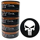 Nip Energy Dip Coffee 5 Cans with DC Crafts Nation Skin Can Cover - Skull