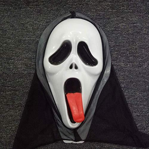 tytlmask Spit Tong Scream Vampier Masker, Terror Devil Latex Masker, Enge Monolithische Masker Voor Halloween Cosplay Persecute Prop