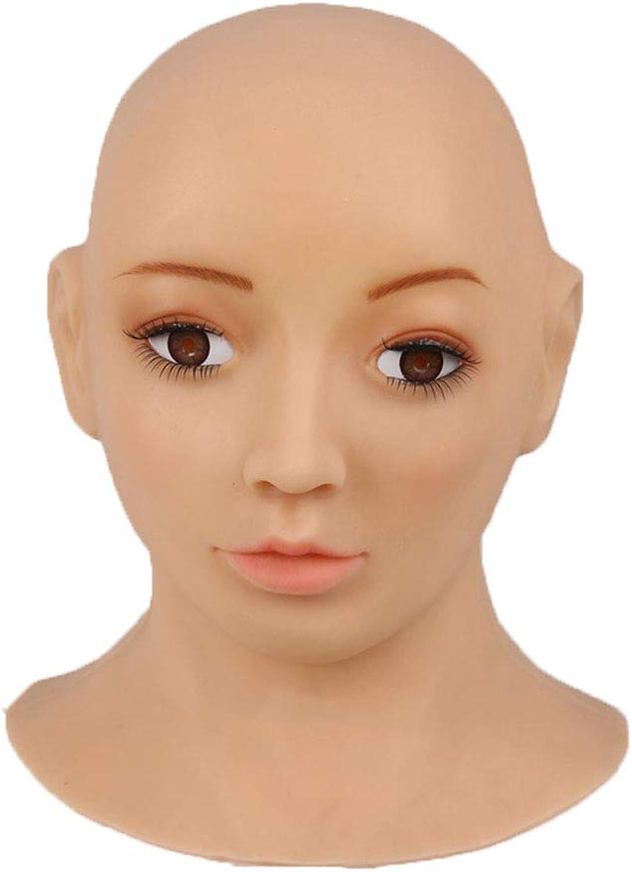 XSWE Weihnachts Masken, Hochwertige Realistische Silikon Maske Weibliche Masken Halloween Masken Angel Face Cosplay Transgender Shemale Crossdress