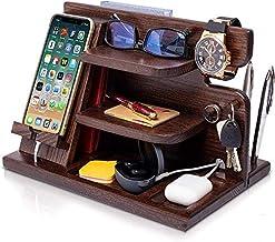 YUDIZWS Boîte de Rangement de Bureau de Bureau de téléphone de téléphone en Bois, Porte-clés Gardes de Montre Gadgets de B...