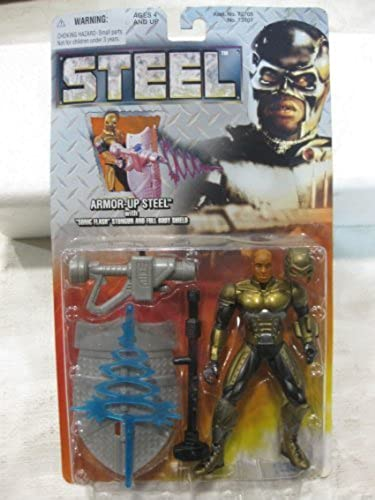 promociones emocionantes Steel Armor-Up Steel Action Figure With With With Sonic Flash Stungun & Full Body Shield From Kenner 1997 by Steel  buen precio