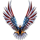 """Bald Eagle American Flag Sticker/Decal - 6"""" x 6.75"""" Inch American Flag Decal (1 Pack)"""