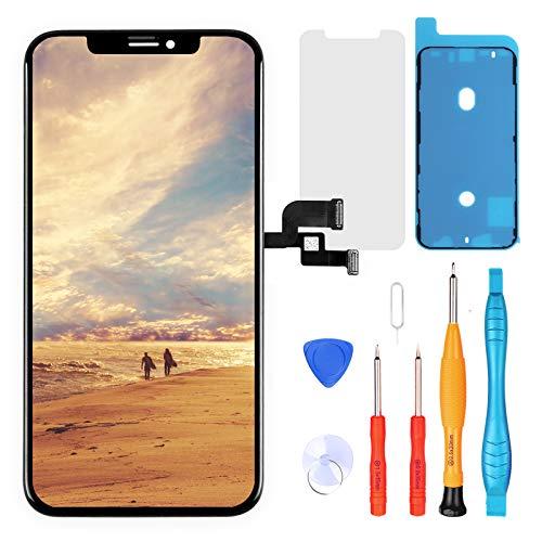 """LL TRADER Display für iPhone XS 5,8"""", Retina LCD Digitizer Touch Ersatz durch Reparaturwerkzeug Kits"""