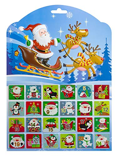 Adventskalender Stickers Nummers 1 tot 24