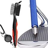 Gzingen Golf Tool Set, Golf Club Groove Sharpener and Retractable Golf Club Brush, Re-Grooving Tool and Cleaner for Wedges & Irons for Golfers, Practical Sharp and Clean Kits
