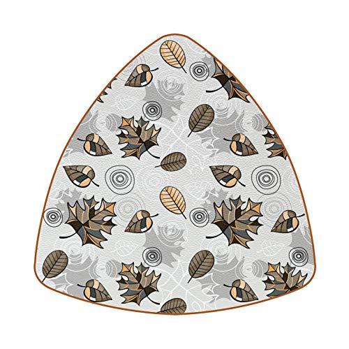 Posavasos triangulares para bebidas, diseño de flores, de cuero, para proteger muebles, resistente al calor, decoración de bar, juego de 6