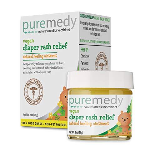 Puremedy Diaper Rash Relief Salve  Vegan Homeopathic Remedy 2 oz