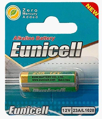 Eunicell 1 x 23A 12V (1 Blistercards a 1 Batterie) Quecksilberfreie Alkaline Batterie MN21, 23A, V23GA, L1028, A23 EINWEG Markenware