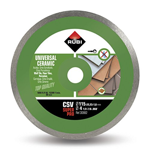 RUBI 30882 Disco Diamante general cerámica contínuo (CSV) 115mm SUPERPRO, Gris, 115 mm