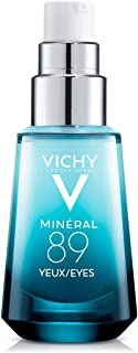 Vichy Mineral 89 Eyes Serum, Brightening Eye Gel Cream with Pure Caffeine and Hyaluronic Acid to Smooth Fine Lines and Hydrate Eye Area, Fragrance Free & Dermatologist Recommended