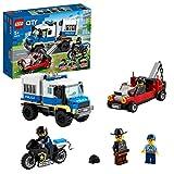 LEGO 60276 City Transporte de Prisioneros de Policía, Set de Expansión de Comisaría con Vehículos: Coche, Camión y Moto de Juguete