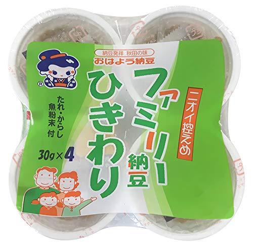 おはよう納豆 ファミリー納豆ひきわりカップ4(30g×4) 12個入
