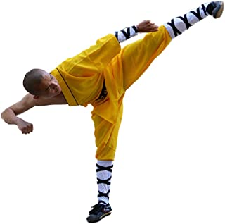 Shaolin Temple Warrior Monk's Robe Chinese Traditional Martial Arts Kung Fu Uniform Buddhist Zen Moine Baggy Pants with Belt