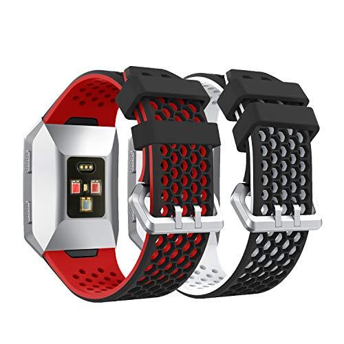 YaYuu Fitbit Ionic Correa de Reloj, Banda de Reemplazo Silicona Suave Sports Pulsera para Fitbit Ionic Smart Watch (B, 2 Paquete)