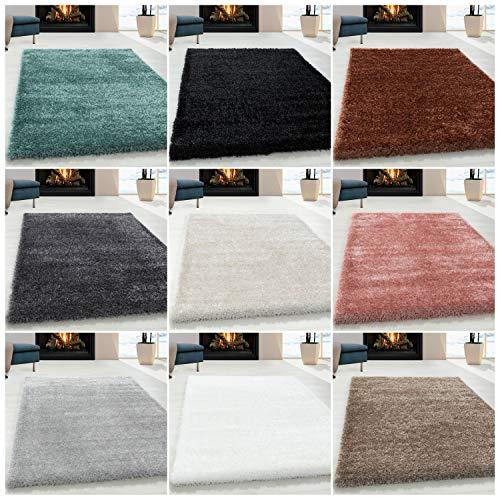 Ayyildiz Wunderschöne Shaggy Hochflor/Shaggy/Flokati Langflor 50 mm Shaggy Teppich Ökotex Standard 100, Größe:80 x 150 cm, Farbe:Hellgrau