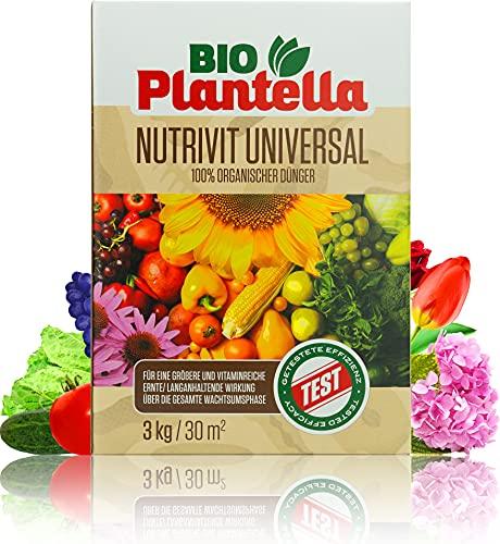 Bio Plantella Universaldünger 100{c13d81504ced74f21378a9f5159cb0ac27eaaee185502c642381a878cdc02a13} Organischer Dünger mit Langzeitwirkung für Haus und Garten