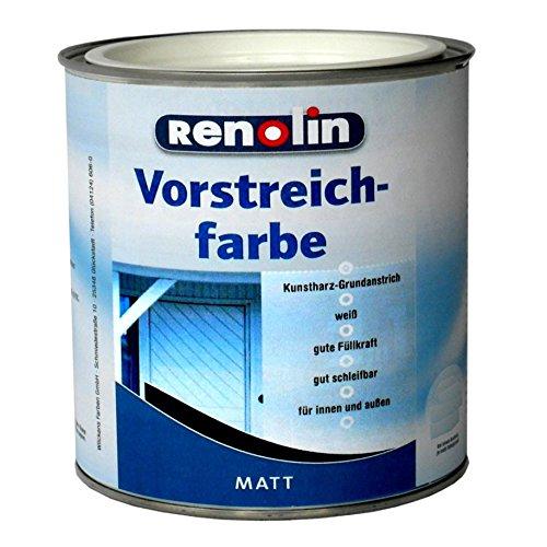 (9,49 / Liter) Vorstreichfarbe weiß matt auf Kunstharzbasis (2 Liter)