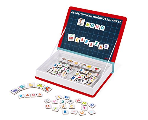 Janod-Magneti'Book Alfabeto en Alemán Juguete Educativo en Español, color rojo (Juratoys J02714)