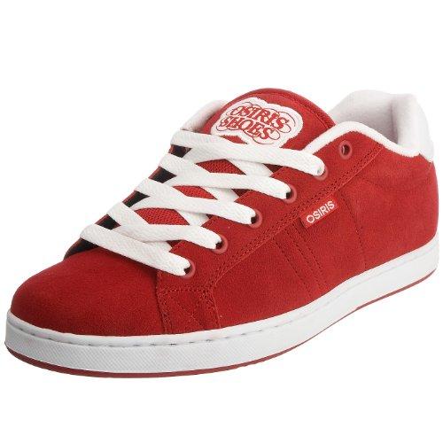 Osiris Herren Troma Redux Sneaker, Rot - rot/weiß - Größe: 47 EU