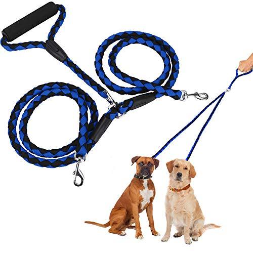 Training Lead Voor Honden Dubbele Hondenriem Touw Hond Lood Leiband Voor Grote Honden Hond Lead Splitter Hond Leidt Sterke Hond Leidt Slip Touw blue