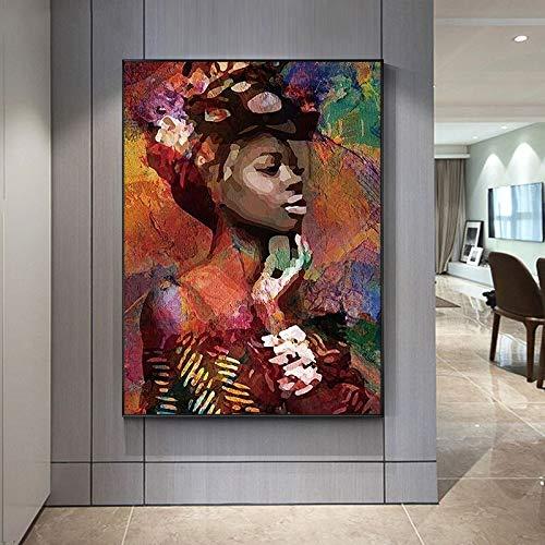 wZUN Arte Callejero Graffiti Retrato Abstracto Arte de la Pared Lienzo Pintura Carteles e Impresiones Sala de Estar decoración del hogar 60x80 Sin Marco