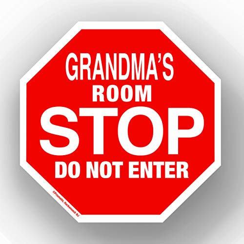 Stop Sign 5.5' x 5.5' Personalized Name Sign - Room Signs, Novelty Signs - Grandmas