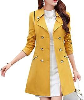 608489491c009 Zengbang Grande Taille Manteau Longue Trench-Coat Femme à Double Boutonnage Veste  Coupe-Vent