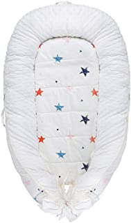 Baby Nest, Baby Lounger Stars Portable Super Soft Organic Cotton and Breathable Newborn Lounger- Perfect for Co-Sleeping