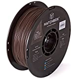 HATCHBOX 3D WOOD-1KG1.75-BRN 3D Printer Filament, Dimensional Accuracy +/- 0.03mm, 1.75 mm, 1kg Spool, Wood Brown