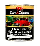 Majic Paints 8-0999-2 Clear Coat High Gloss Lacquer, 1-Quart, Clear