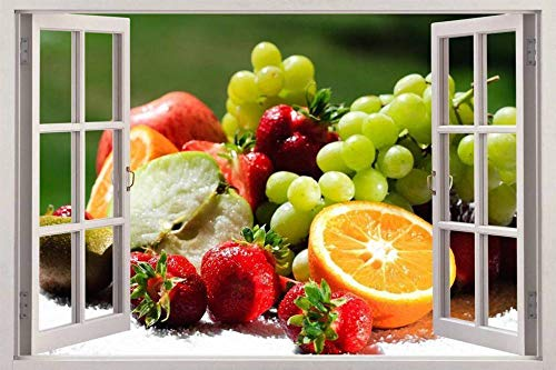 TJJQT etiqueta de la pared Cesta 3d ventana vista calcomanía etiqueta de la pared decoración del hogar arte mural