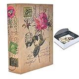 Money Safe Diversion Books Libro Seguro Oculto portátil con Cerradura de combinación para Almacenamiento de Dinero Seguro Tamaño L: 26.5 * 19.7 * 6.5cm - 10.5 * 7.8 * 2.6in