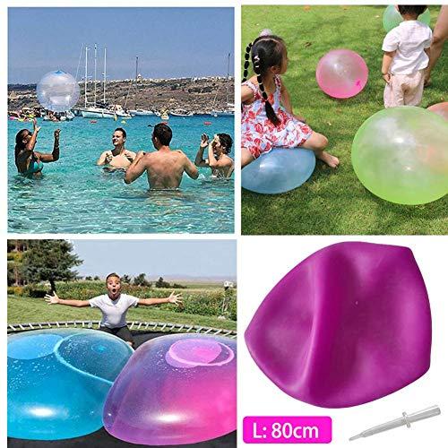 hook.s Bolas de Burbujas Gigantes - Bola de Burbujas de Agua Inflable súper Grande Niños Globo Grande Lleno de Aire/Agua Suave para niños Adultos Fiesta de Verano y Juguete de Juego de Agua